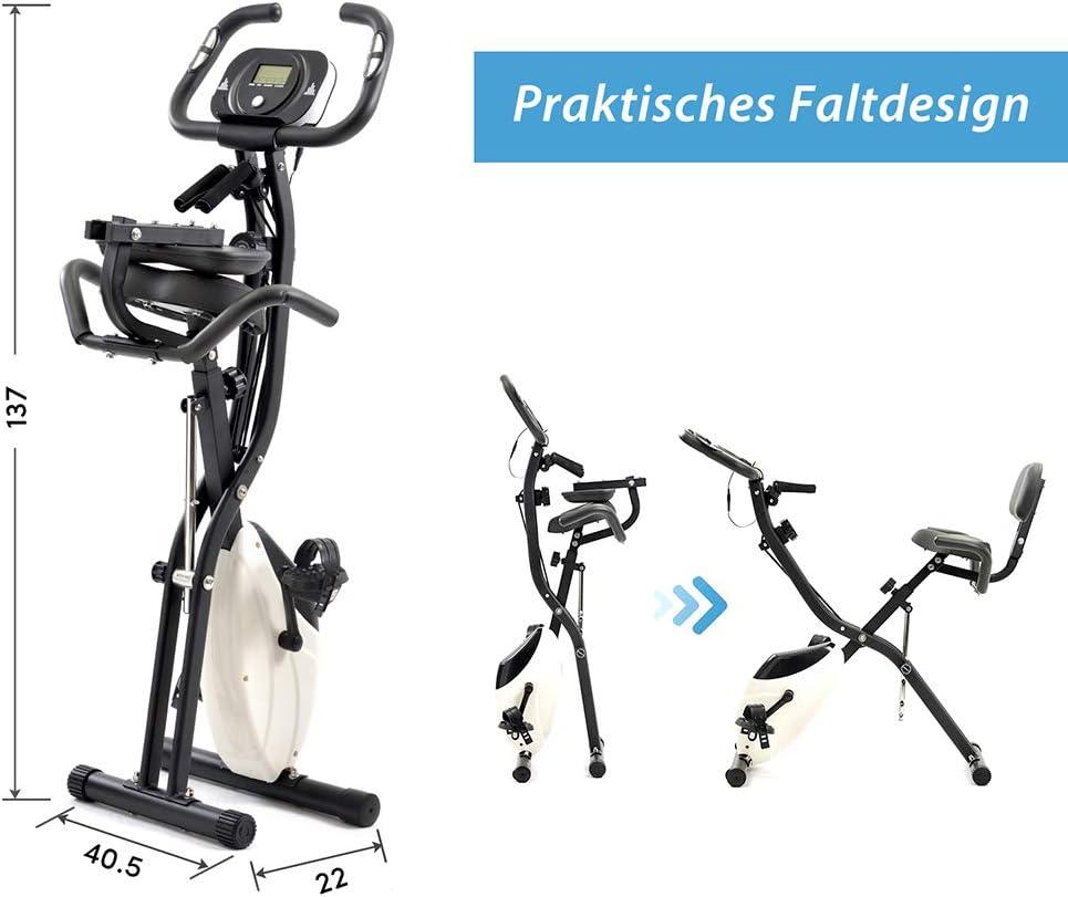 Magnetische Heimtrainer Faltbarer LCD-Monitor Sportausr/üstung Indoor Cycling Bikes Fitness Bike Fortgeschrittener Fahrradtrainer