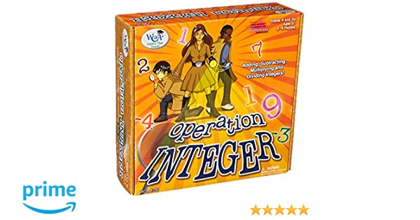 Amazon.com: Learning Advantage 4730 Operation Integer Game, Grade ...