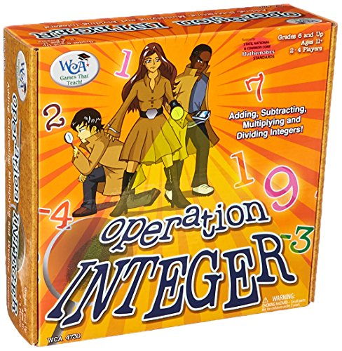Amazon.com: Learning Advantage 4730 Operation Integer Game, Grade ...