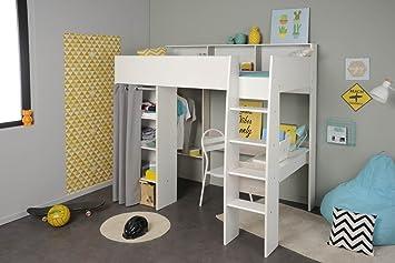 Etagenbett Mit Schreibtisch Und Schrank : Hochbett mit schreibtisch und kleiderschrank taylor 11 von parisot