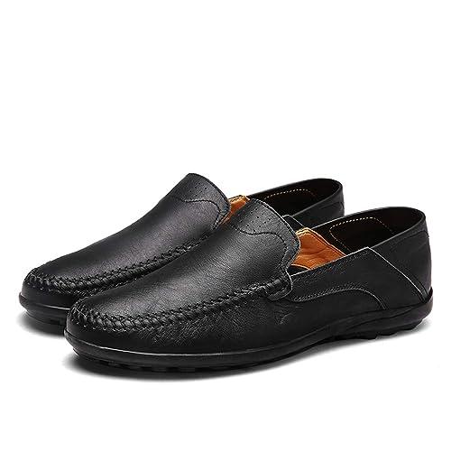 52c3c3cff5b9d Sneerrt Hombres Zapatos de Verano Mocasines Italianos de Cuero Genuino  Mocasines Resbalón en los Zapatos de conducción  Amazon.es  Zapatos y  complementos
