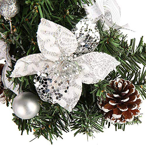 Oldeagle Christmas Miniature Tree, 20cm Artificial Tabletop Mini Christmas Miniature Tree for Christmas Festival Decorations (Silver) by Oldeagle (Image #3)