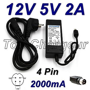 Top Cargador® Adaptador alimentación Cargador 12 V 5 V 2 A 4 ...