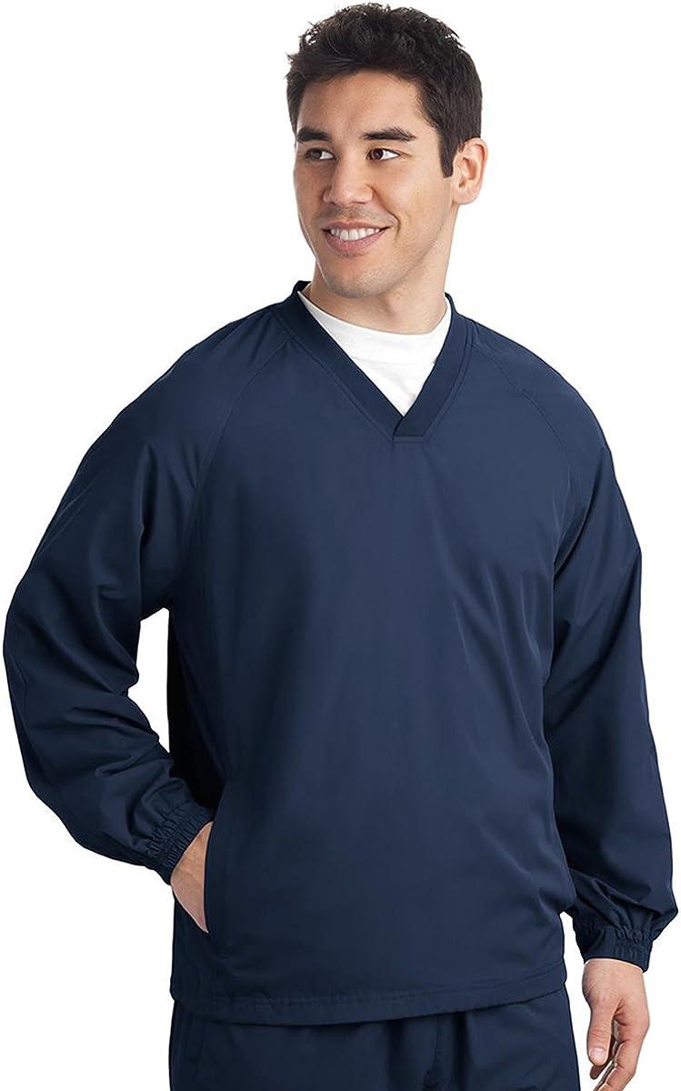 JST72 Sport-Tek V-Neck Raglan Wind Shirt