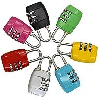 Lvcky cijferslot voor bagage, reishangslot, codesloten, voor sluitvakken, sportbagage, schoolkasten, 6 stuks
