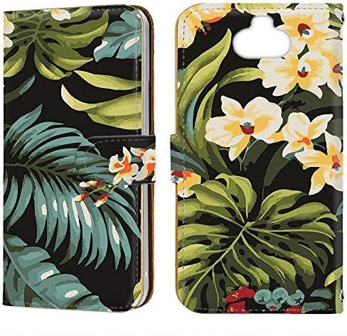スマホケース 手帳型 ミラータイプ Xperia 8 (SOV42) [トロピカル・ハイビスカス プルメリア] 花柄 フラワー ネイティブ柄 ボタニカル エクスペリア エイト スマホカバー 携帯カバー [FFANY] hawaii 123@03m
