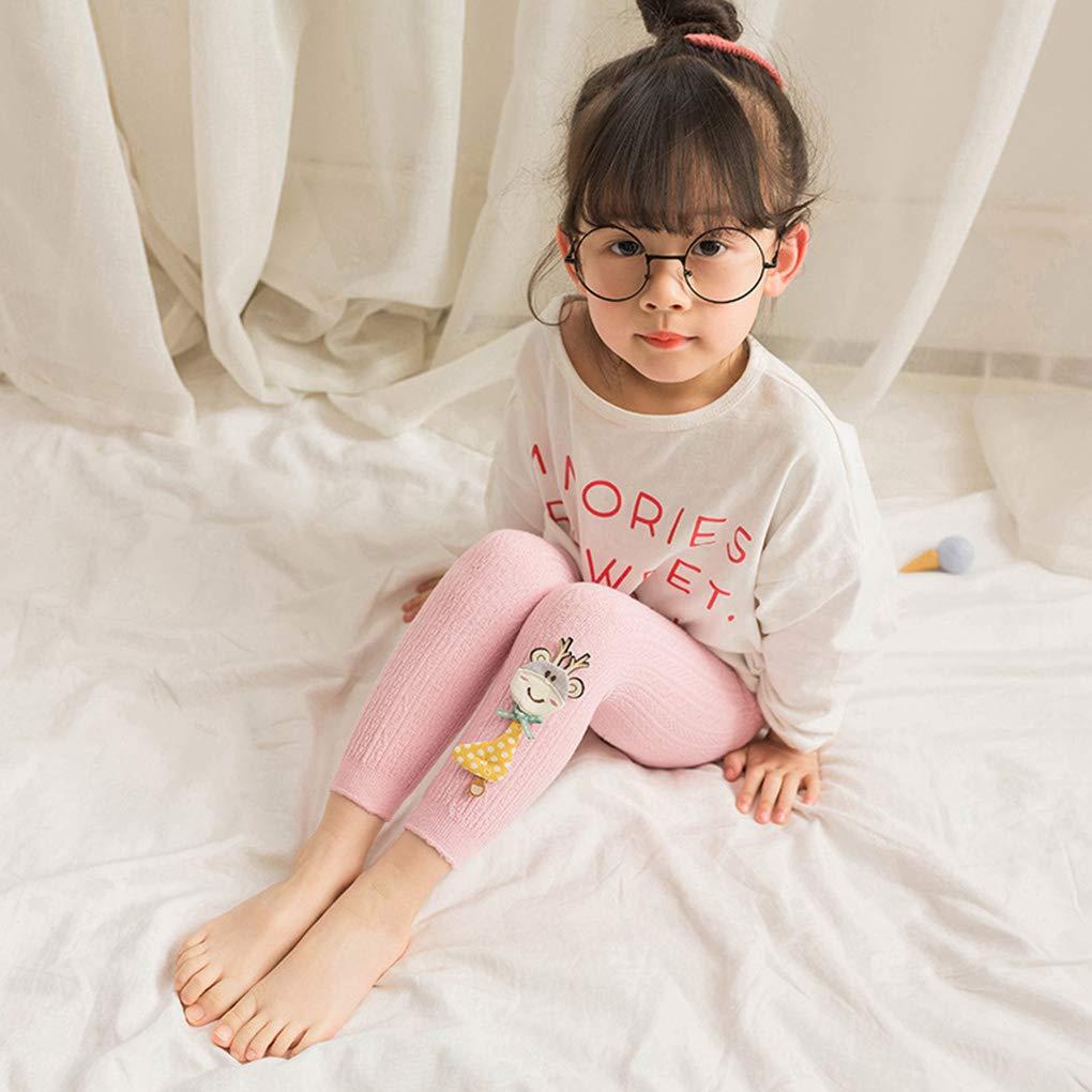 Girls Leggings Elegant Cartoon Animal Vertical Stripes Knitted Pantyhose Little Baby Autumn Spring Pants Leg Warmer