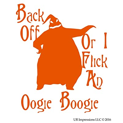 UR Impressions IOrn Back Off. Oogie Boogie Decal Vinyl Sticker Graphics for Cars Trucks SUV Vans Walls Windows Laptop|Intense Orange|5.5 X 5.2 inch|URI378-IO: Automotive