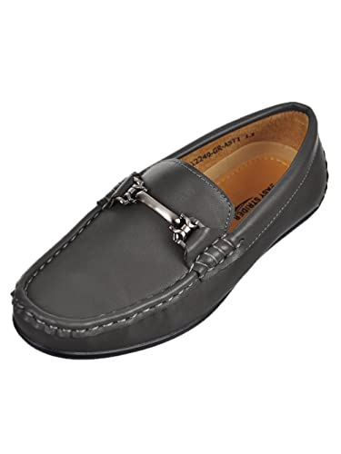 f389cc2580f Easy Strider Boys  Driving Loafers - Gray Navy
