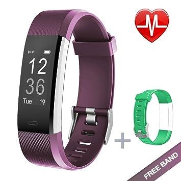 KG | Physio Fitness Tracker reloj HR Smart Band feat. Control de la frecuencia cardiaca, modo de, deportes, contador de pasos de seguimiento de ...