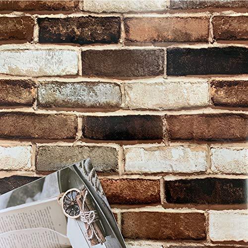 3D Brick Wallpaper Peel and Stick Wallpaper Brick Wallpaper Self Adhesive Wallpaper Brick Contact Paper Removable Wallpaper Stick and Peel Faux Brick Wallpaper 3D Textured Wallpaper Vinyl 197