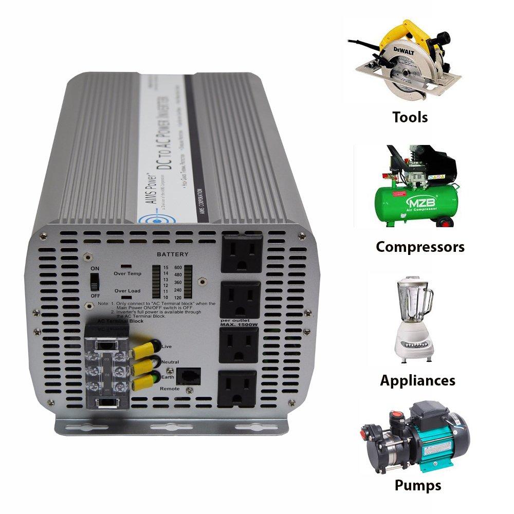 AIMS Power 10,000 Watt Power Inverter 12 vDC to 120 vAC by Aims (Image #4)