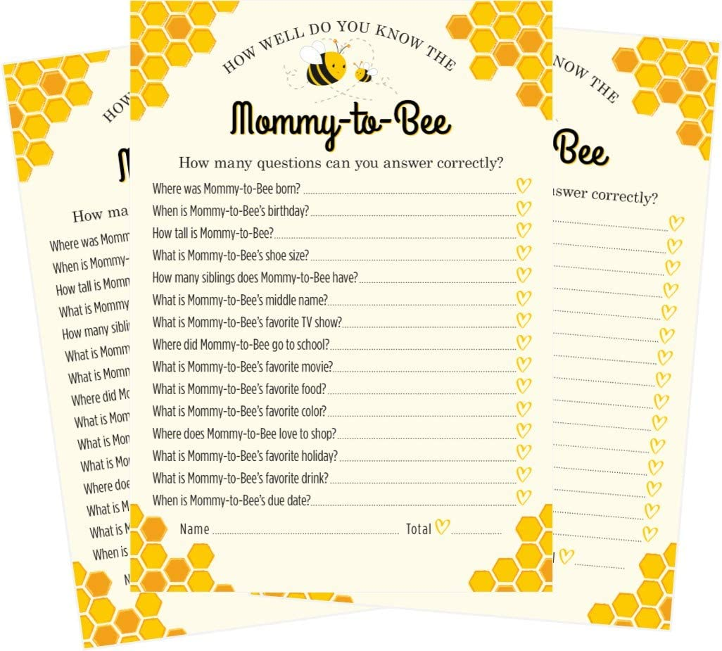 Guess Who Mommy or Daddy Little Honey Bee Baby Shower Game