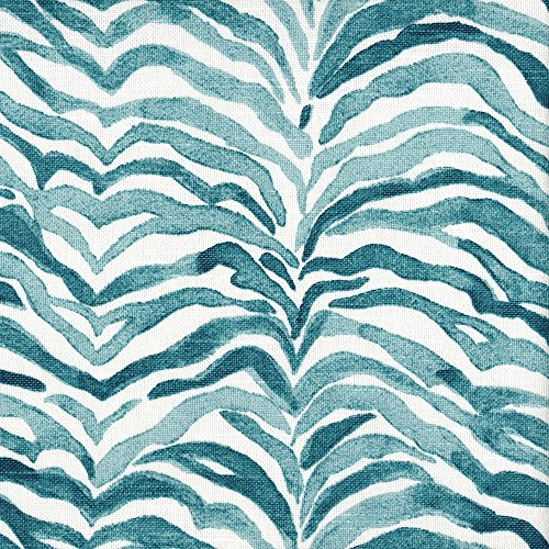 Serengeti Seaside Blue Animal Print 90'' Round Tablecloth Cotton by Close to Custom Linens