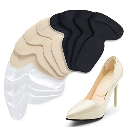 e68cc1f826293 Amazon.com: 6 Pair T-Shaped Shoe Pads, Non-Slip Silicone High Heel ...