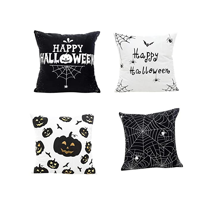 Amazon.com: Happy Pumpkin - Funda de cojín para Halloween ...