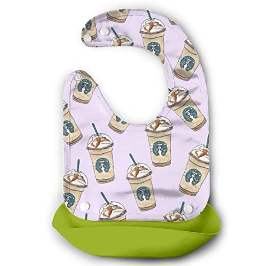 Amazon Com Green Ultra Starbucks Coffee Light Baby Cute Bib