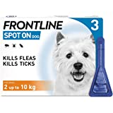 Frontline Spot On Flea and Tick Treatment for Small Dog (2-10kg) 3 Pipettes