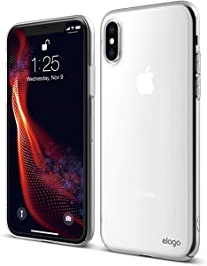 elago Slim Fit Series Case Designed for iPhone Xs Case, iPhone X Case - Matte Finish [Frosted Clear]