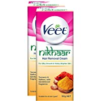 Veet Nikhaar Hair Removal Cream for All Skin Types - 50 g (Pack of 2)