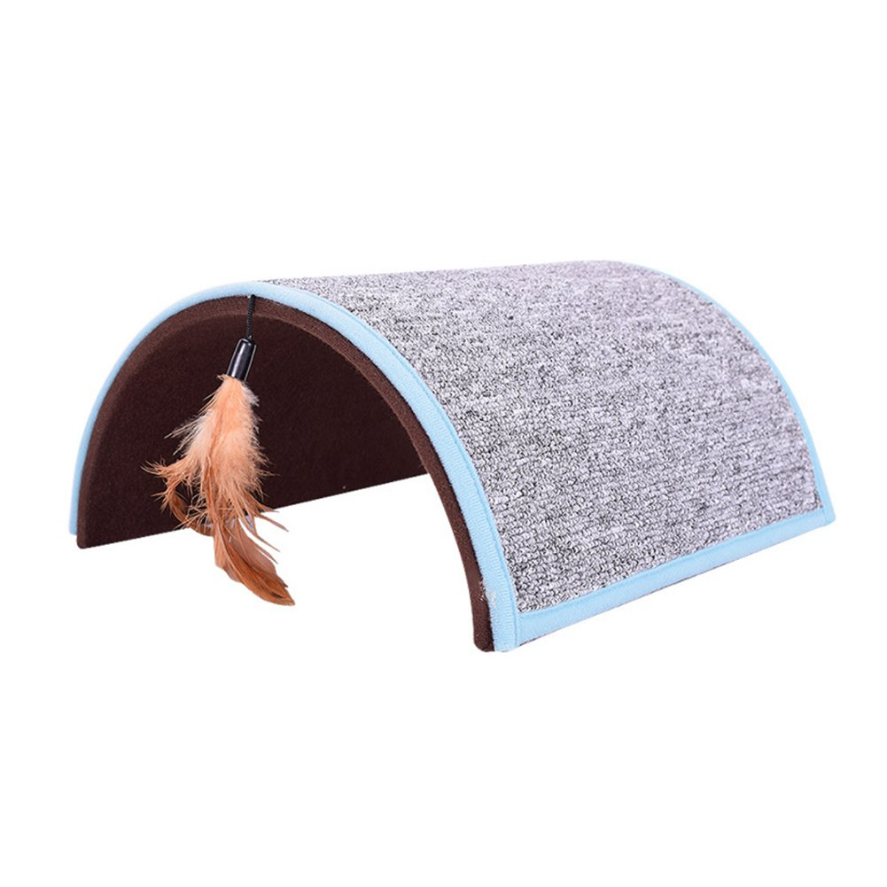 Midsummer Carpet Arch Cat Scratch Board Pet Tunnel House Tent Cat Litter Beds Multifunctional Dog House and Pet Toys,Collapsible,Often used in homes, outdoors, courtyards, parks and during journey by Midsummer (Image #4)