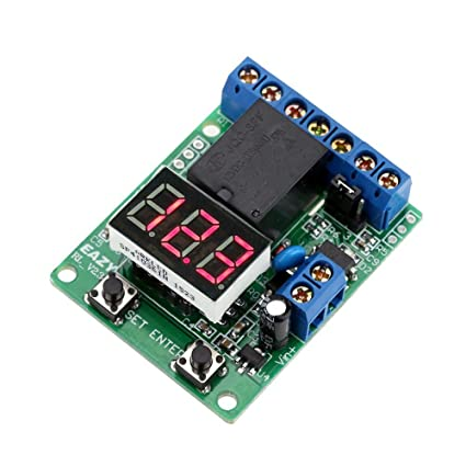 kkmoon dc 12v voltage detection charging discharge monitor test relay switch control board module