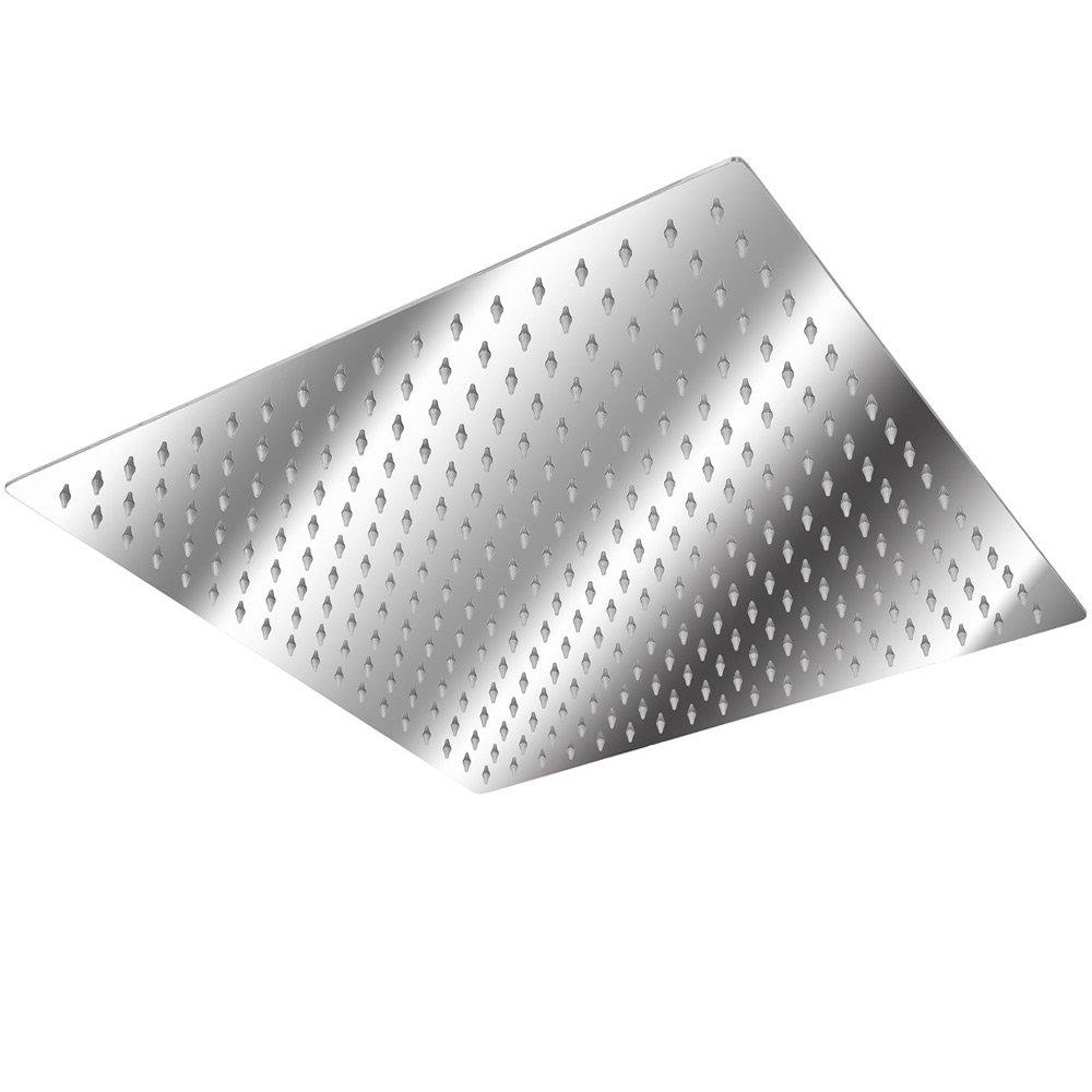 modelli differenti TecTake Soffione doccia a pioggia moderno doccione in acciaio inox quadrata 40x40cm   no. 401601