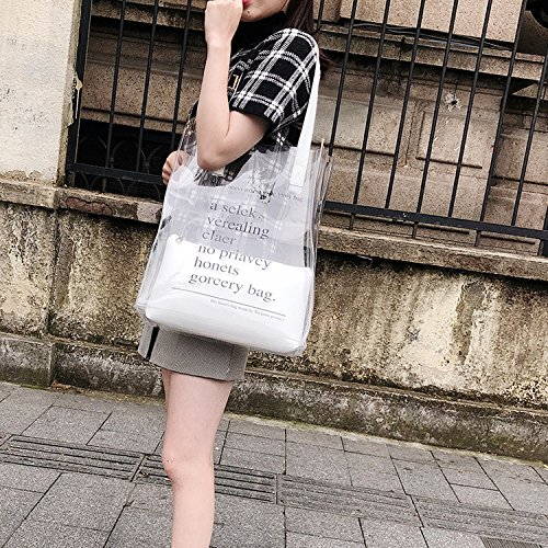 bag handbag shoulder 2018 transparent fashion jelly female Black Summer xUXO0