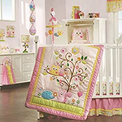 Lambs & Ivy Dena Happi Tree Girl's 8 Piece Bedding Set