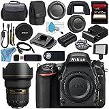 Nikon D750 DSLR Camera 1543 AF-S 14-24mm f/2.8G ED Lens 2163 + Carrying Case + 256GB SDXC Card + Card Reader + Professional 160 LED Video Light Studio Series Bundle