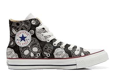 Converse All Star Customized - personalisierte Schuhe (Handwerk Produkt) Vintage Paysley