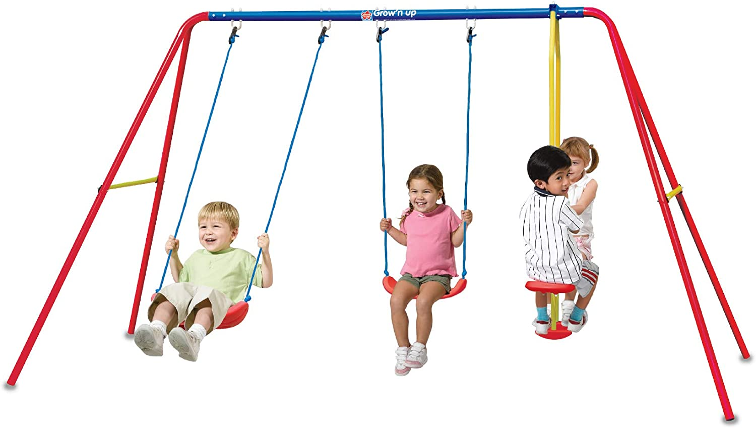 Grow'n Up Qwikflip Heracles III Triple Swing Set