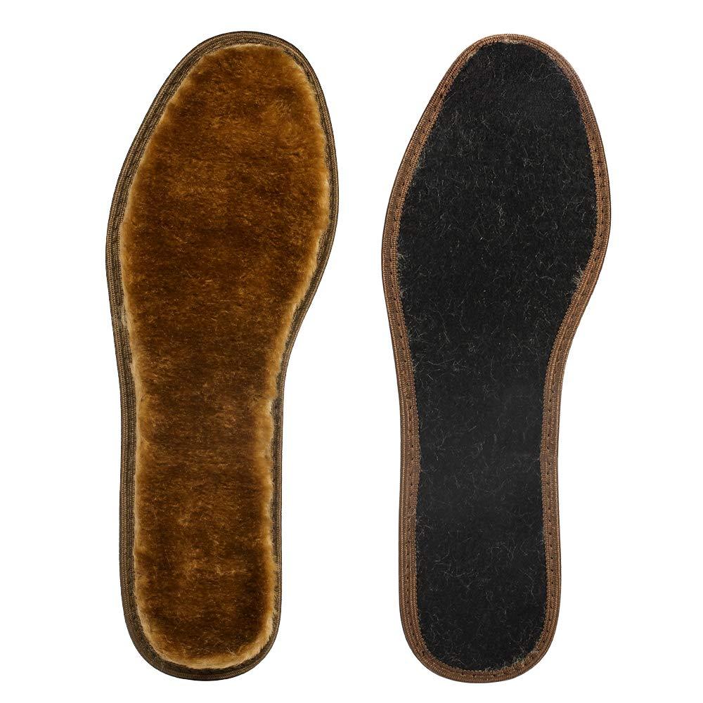 Plantillas de lana gruesa, plantillas de lana cálidas y cómodas contra el frío invierno,