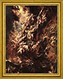 """The Fall of the Damned by Peter Paul Rubens - 21"""" x 26"""" Framed Premium Canvas Print"""