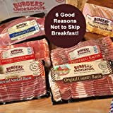Our Colossal Bacon Sampler includes 6 different sliced bacon products. This sampler will let you try a different bacon each morning for nearly a week. Six good reasons not to skip breakfast. Sampler Contains:  Canadian Style Bacon 12 oz. p...