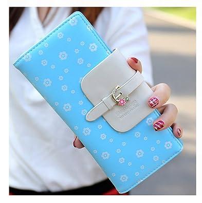 15333100eb4f2 Keshi Pu Niedlich geldbörse damen lang Blau  Amazon.de  Schuhe   Handtaschen