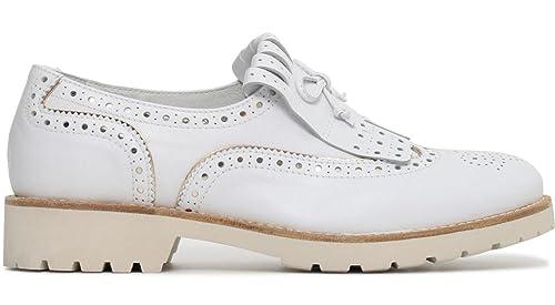 Nero Giardini P805030D Mocasines DE CUERO-707 5030 Zapatos Blancos: Amazon.es: Zapatos y complementos