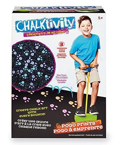 Chalktivity – Creativity in Action – Pogo Print with 8 Powdered Chalk Pack by Chalktivity