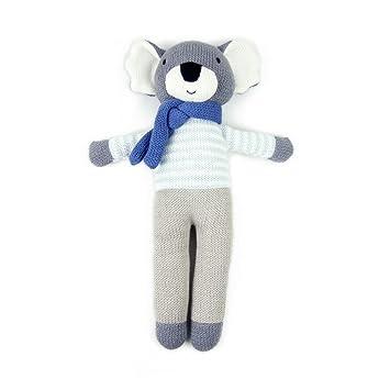 weegoamigo – Manta de koala oso de gestrickte peluches Figura – Animales de Peluche Animales de