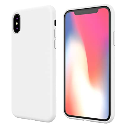 buy online 82e8c 21401 iPhone X Silicone Case,iPhone 10 Silicone Case,Full Body Drop Shockproof  Protection Cover Matte Case Gel Rubber Silicone Phone Case with Soft  Cushion ...