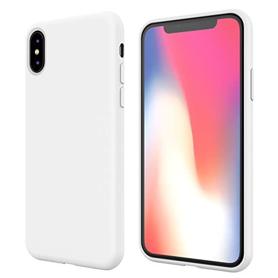 buy online 64856 63f83 iPhone X Silicone Case,iPhone 10 Silicone Case,Full Body Drop Shockproof  Protection Cover Matte Case Gel Rubber Silicone Phone Case with Soft  Cushion ...