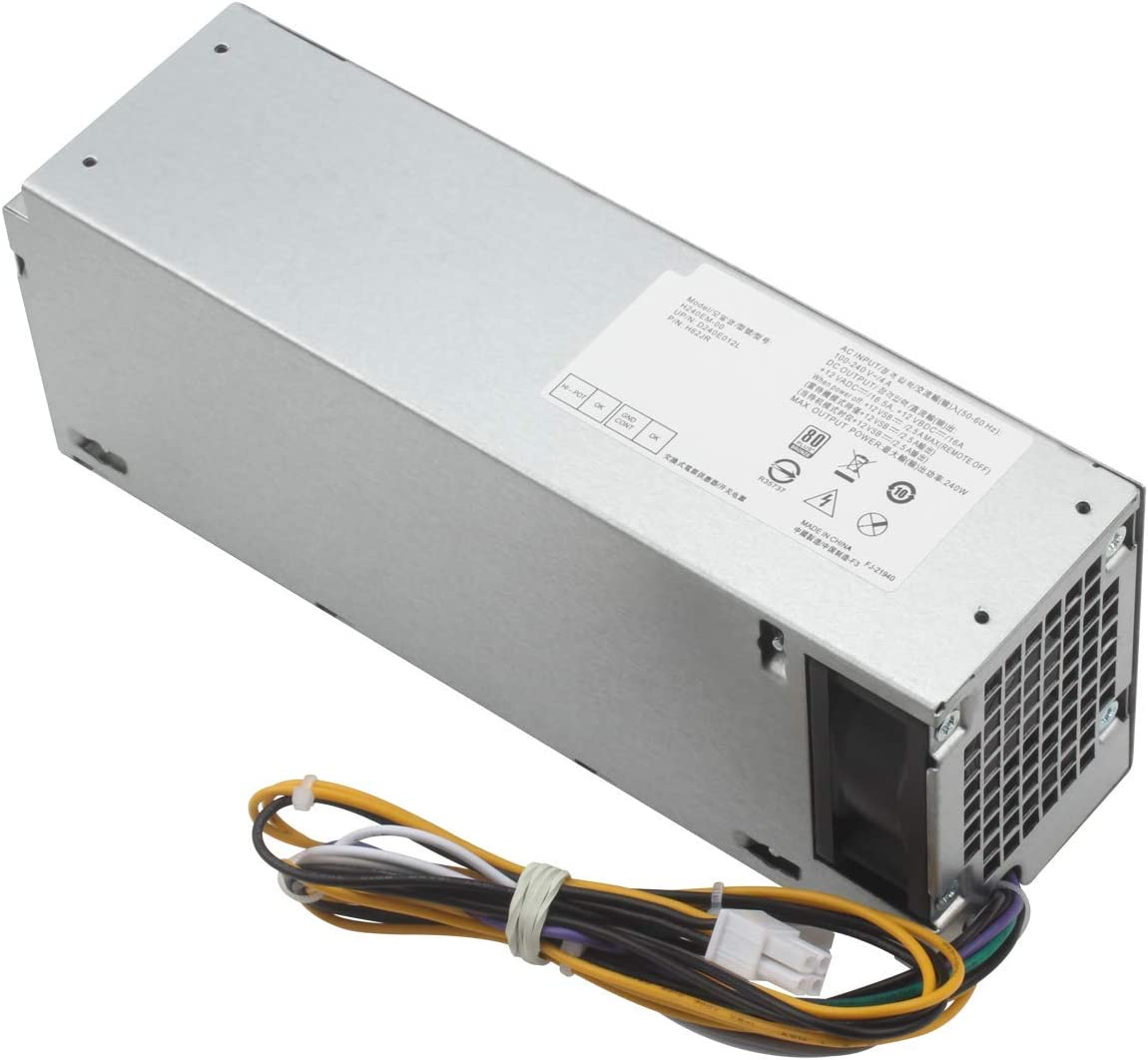Mackertop L240AM-00 240W Replacement Power Supply for Dell Optiplex 3040 5040 7040 3650 3656 (SFF) H62JR THRJK 4GTN5 D7GX8 HGRMH 2P1RD 3RK5T H240EM-00 B024NM-00 HU240AM-00 AC240EM-00 D240AS-00
