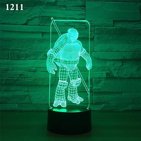 Bbdeng Lámpara LED de luz nocturna 3D Luz de Ambiente ...