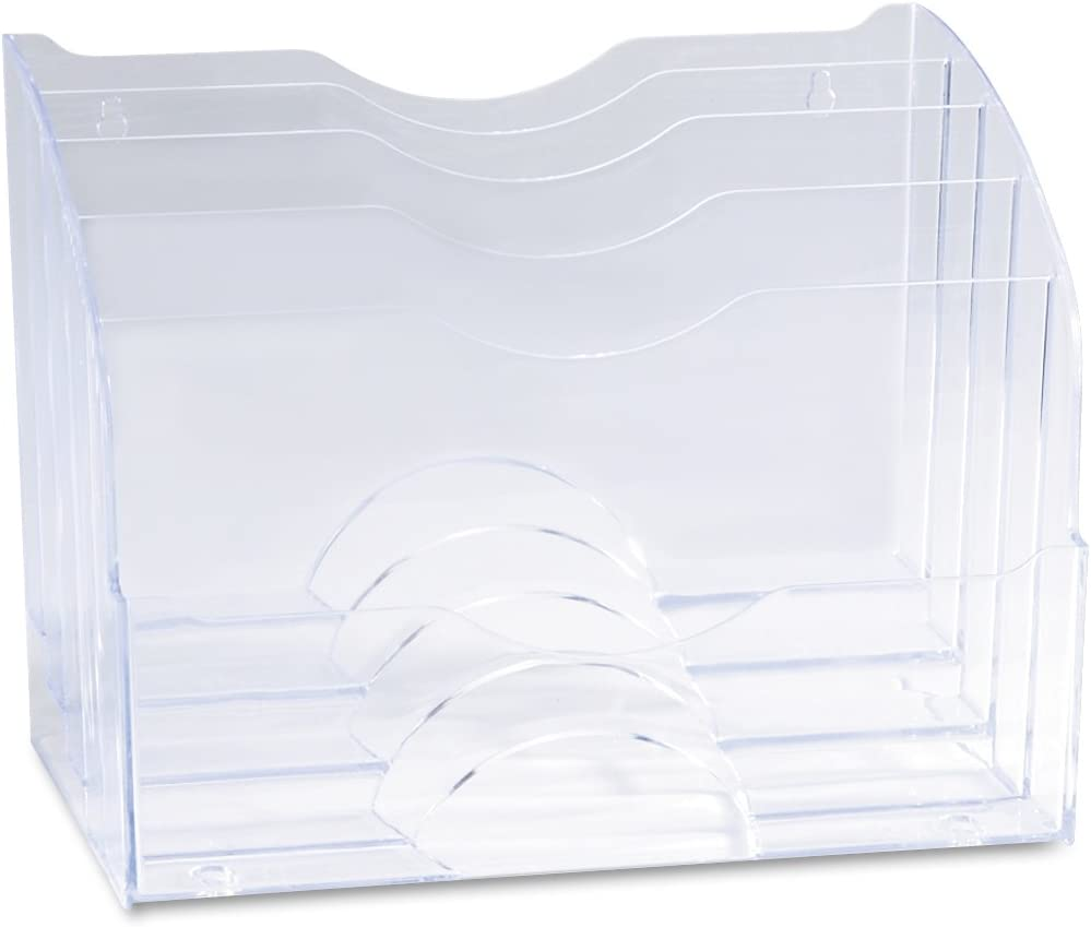 Rubbermaid 94610 Optimizers Multifunctional Two-Way Organizer, 8-3/4w x 10-3/8d x 13-5/8h, Clear