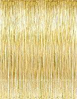 Kangaroo's Gold Foil Fringe Curtains (1 PC) by Kangaroo; Party Supplies