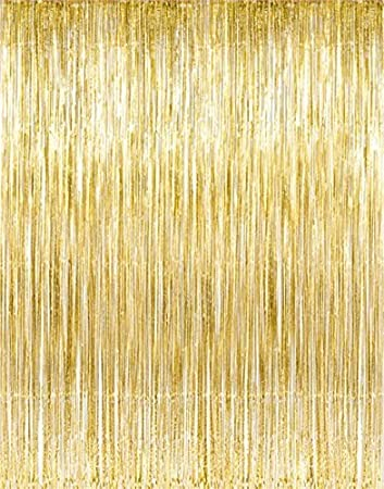 Superior Kangaroou0027s Gold Foil Fringe Curtains (1 PC) By Kangaroo; Party Supplies