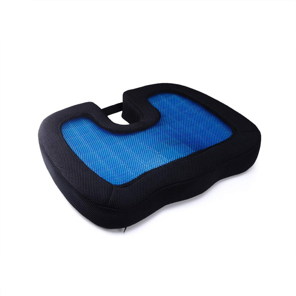 ZHANGZHIYUA Memory Seat Cushion/Back Cushion Combo, Gel Infused & Ventilated, Orthopedic Design. Perfect for Office Chair, Relieves Back, Coccyx, Sciatica,1