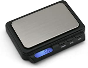 Truweigh ZENITH Digital Mini Scale - 600g x 0.1g - Black - Long Lasting Portable Grams Scale - Kitchen Scale - Food Scale - Postal Scale - Herb Scale - Pocket Scale - Small Scale