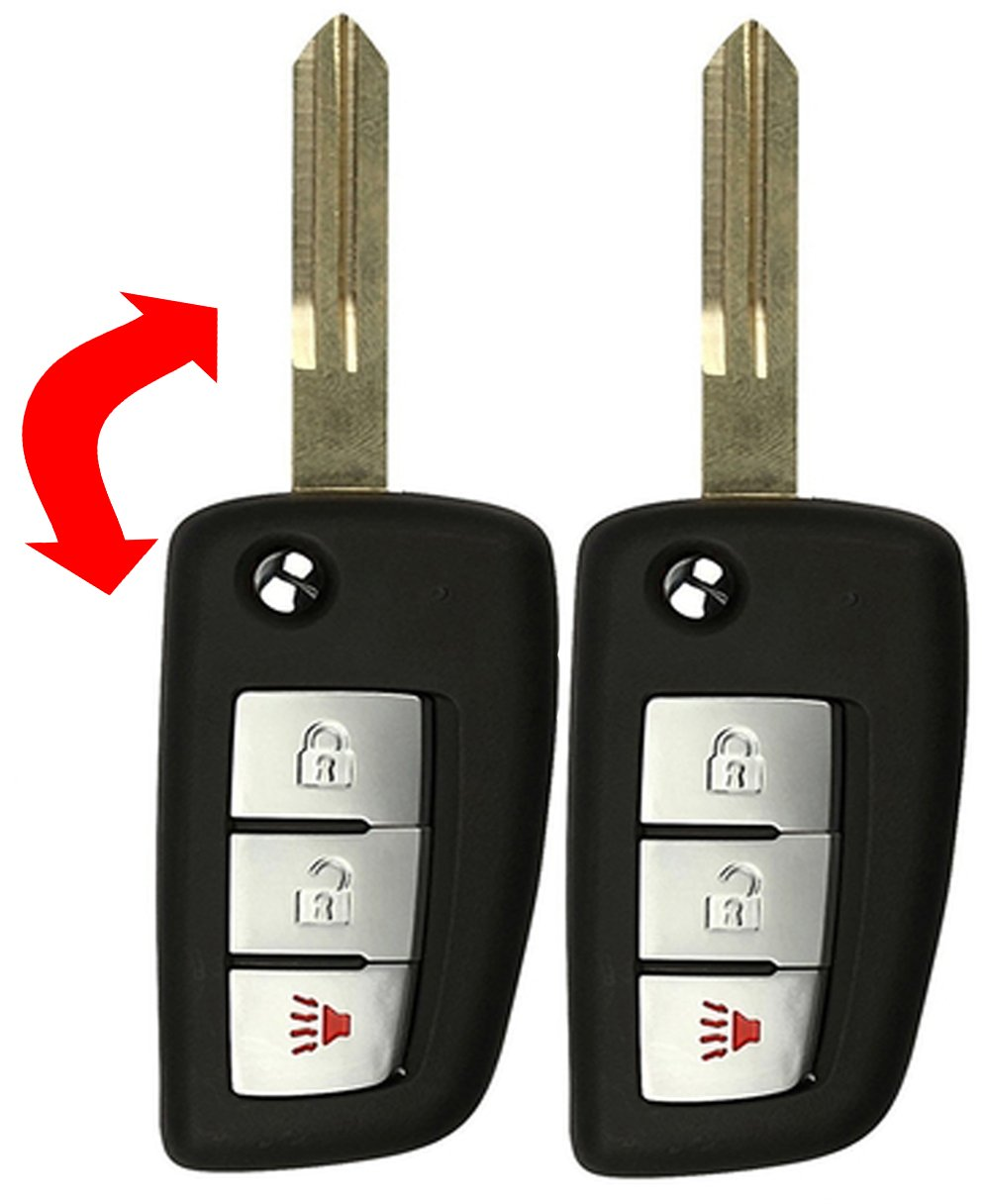 KeylessCanada © Upgraded 2 New Replacement Keyless Entry Remotes Control and 2 transponder Ignition Keys Fob For Nissan Infiniti KBRASTU15 N104T