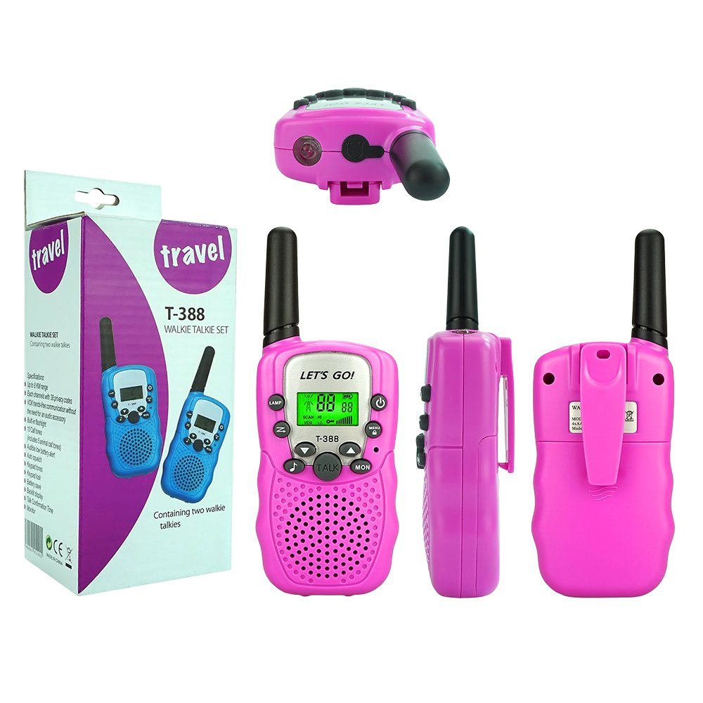 Toys for 3-12 Year Old Girls, DIMY Walkies Talkies for Kids Girls Toys Age 3-12 Year Old Girl Outdoor Toys for Kids Pink DJ06 by DIMY (Image #6)